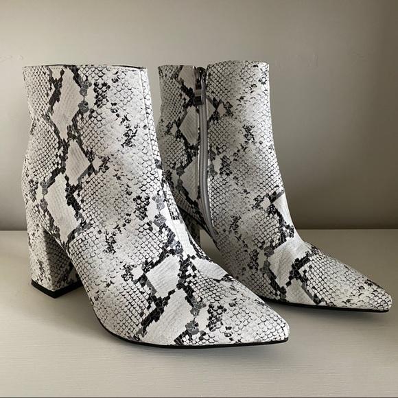 DSW Shoes   Snakeskin Booties   Poshmark